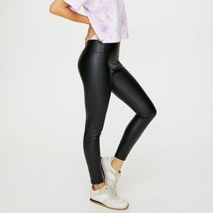 Wilfred Free Leather Ankle Leggings XS